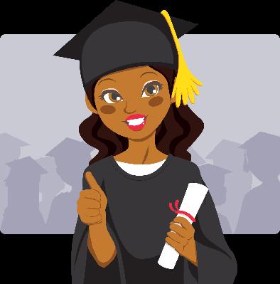 African American Graduate | Clipart