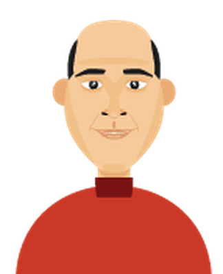 Men's Hair - Balding 1 | Clipart