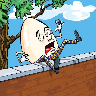 Cartoon Humpty Dumpty   Clipart