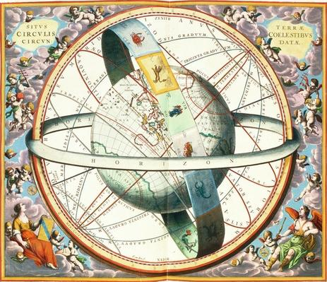 The Situation of the Earth in the Heavens, plate 74 from 'The Celestial Atlas, or the Harmony of the Universe'