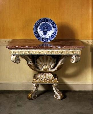 George II console table with marble top, Palladian style, c.1750