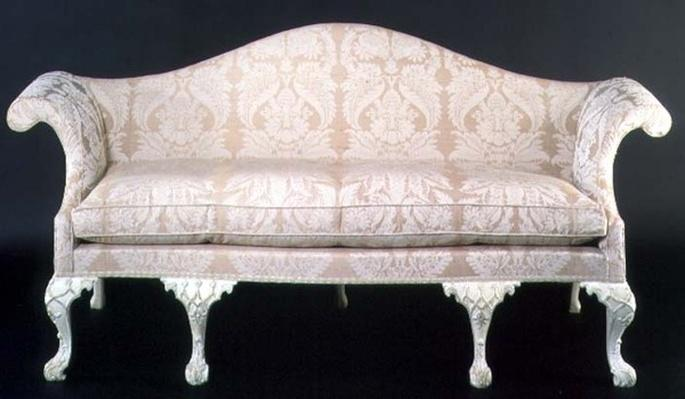 George III upholstered and painted sofa, late 18th century