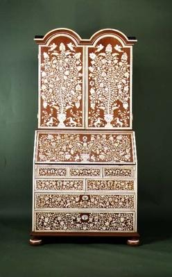 Inlaid bureau, Anglo-Indian, late 18th century