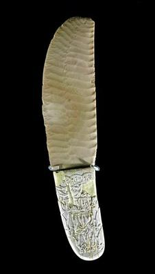 Knife carved with battle scenes, from Gebel el-Arak, Naqada II period, c.3500-3100
