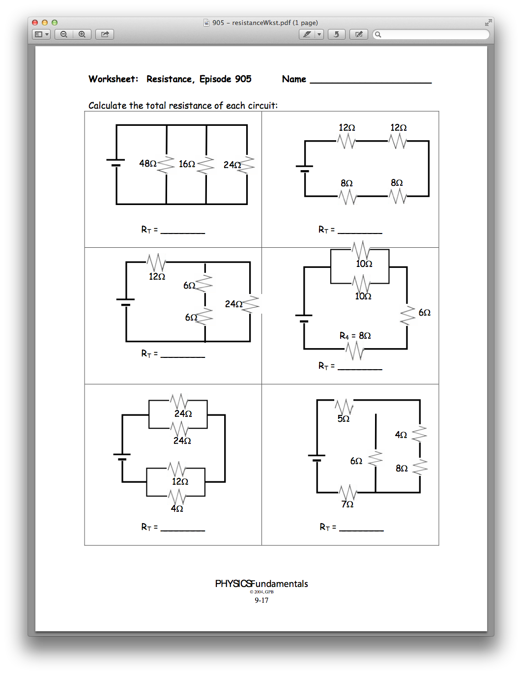 Physics Chapter 09, Lesson 05 - Complex Circuits and Safety