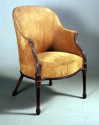 George III bergere chair, late 18th century