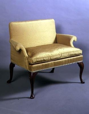 Queen Anne love seat with cabriole legs, c.1710
