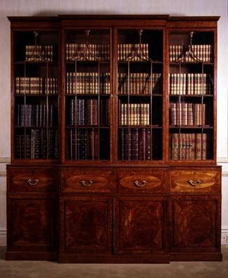 George III breakfront bookcase, late 18th century