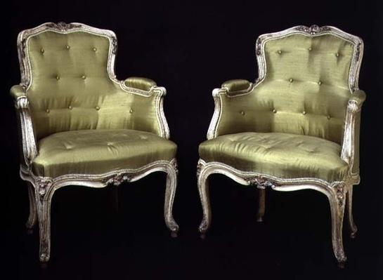 Louis XV small painted chairs