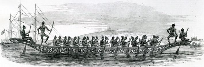 Burmese War Boat, taken from The London Illustrated News, 1852