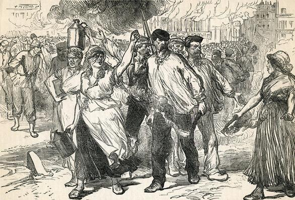 Insurgents Ravaging The Streets of Paris, taken from Cassell's Illustrated History, 1872