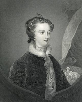 Mary Queen of Scots, engraved by W. Holl after a painting by Sir John Watson Gordon, 19th Century