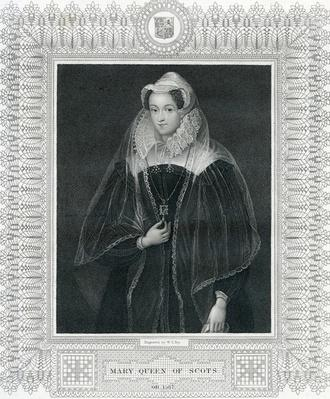 Mary Queen of Scots, engraved by T. Fry after an original in the collection of the Right Hon. The Earl of Morton, 19th Century