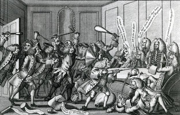 The Seige of Warwick Castle, or The Battle between the Fellows and Licenciates, 1768