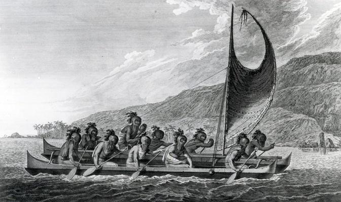 A Canoe of the Sandwich Islands, with the Rowers Masked, after John Webber, circa 1788