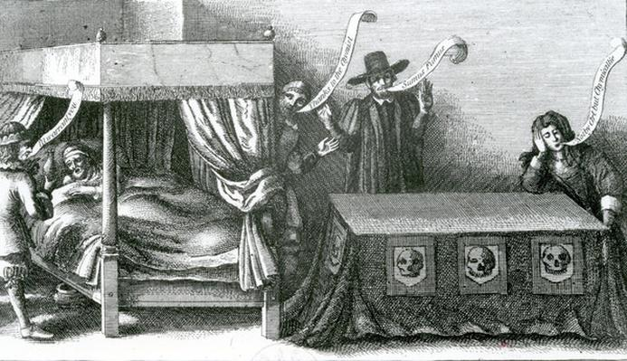 The Death of King James the First, after Wenceslaus Hollar, 1625