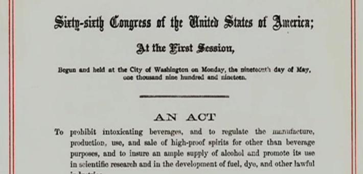 Volstead Act | Ken Burns & Lynn Novick: Prohibition
