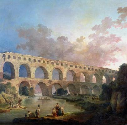 The Pont du Gard, Nimes, c.1786