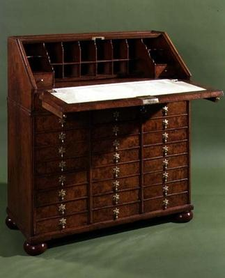 Bureau with small drawers, opened, c.1710