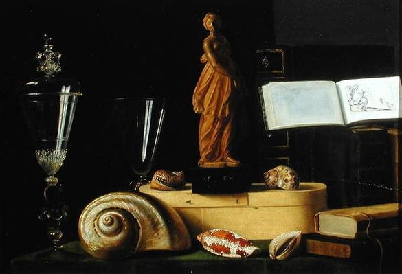 Still Life with a Statuette and Shells, c.1630