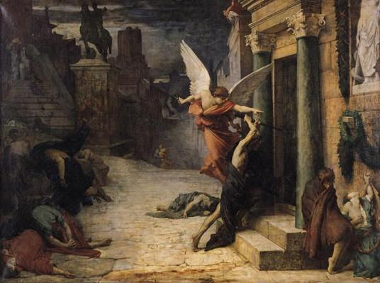 The Plague in Rome, 1869