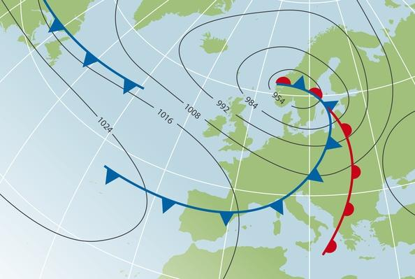 Digital illustration of weather chart | Weather