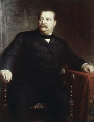 Portrait of Grover Cleveland by Eastman Johnson  | American Presidential Portraits
