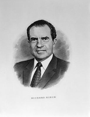 Richard M. Nixon, engraving | American Presidential Portraits