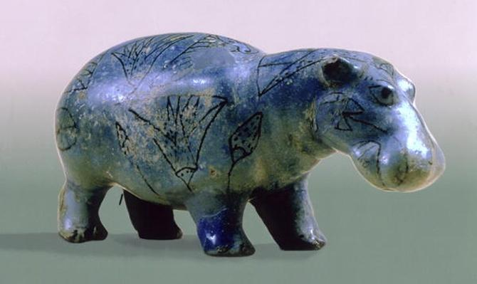 Statuette of a hippopotamus, 11th-12th Dynasty, c.2000 BC