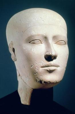 Portrait head from the graves of the Giza necropolis, c.2600 BC