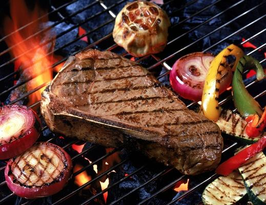 Steak With Vegetables on Grill | Earth's Resources