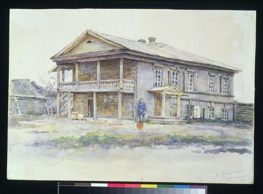 Surikov's House at Krasnoyarsk, 1890-91
