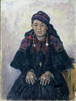 Portrait of a Cossack Woman, 1909