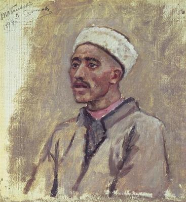 A Siberian Tartar, sketch for 'Yermak Conquers Siberia', 1894