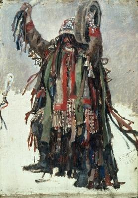 A Shaman, sketch for 'Yermak Conquers Siberia', 1893