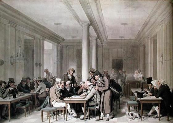 Interior of a Parisian Cafe, c.1815