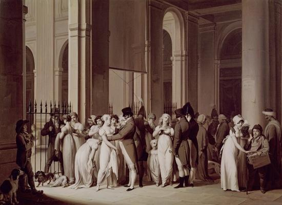 The Galleries of the Palais Royal, Paris, 1809