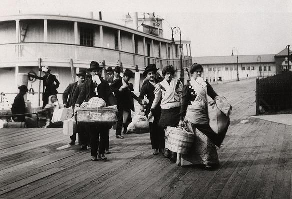 Emigrants landing at Ellis Island, New York | U.S. Immigration | 1840's to present | U.S. History