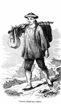 Chinese prospector in California gold rush | U.S. Immigration | 1840's to present | U.S. History