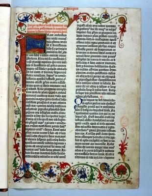 Page from Gutenberg's Bible | World Religions: Christianity