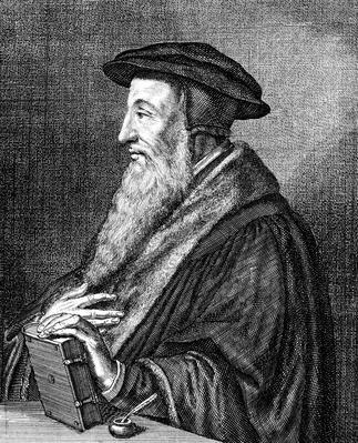 Portrait of Jean Calvin by Konrad Meyer | World Religions: Christianity