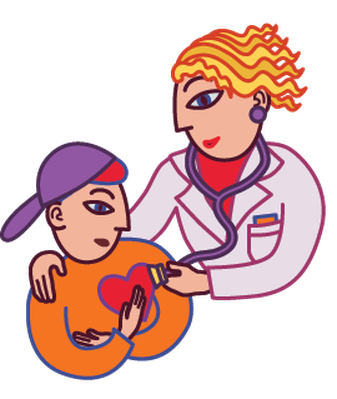People Getting Checkups From Their Doctors | Clipart