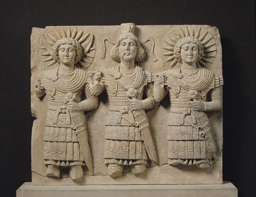 Triad of Palmyrene Gods, from Palmyra Region, c.150 CE