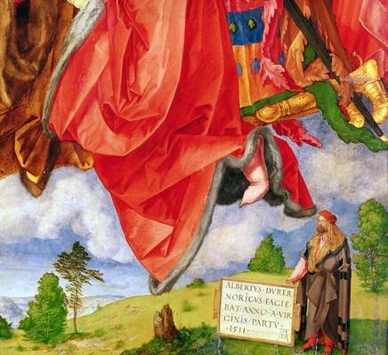 The Landauer Altarpiece, All Saints Day, detail showing self portrait, 1511