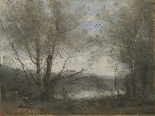 A Pond Seen Through the Trees, c.1855-65
