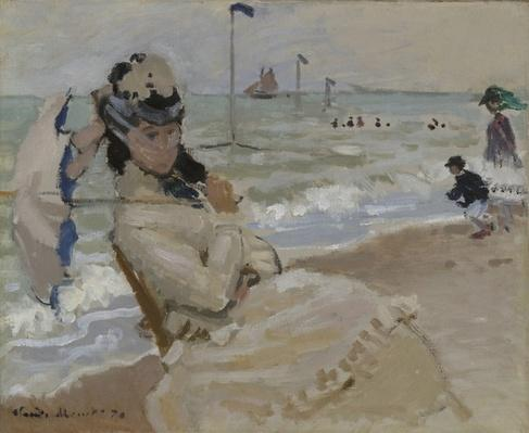 Camille on the Beach in Trouville, 1870