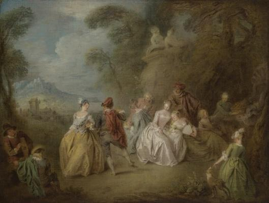 Courtly Scene in a Park, c.1730-35