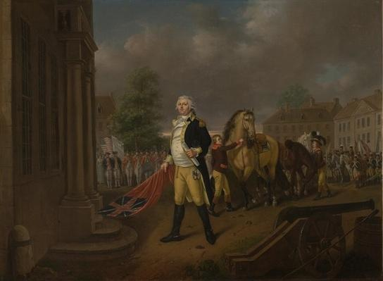 General Humphreys Delivering the Standards taken at Yorktown to Congress Hall, Philadelphia