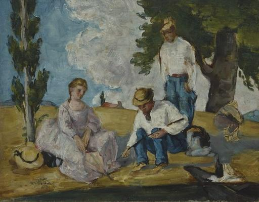 Picnic on a Riverbank, 1873-74
