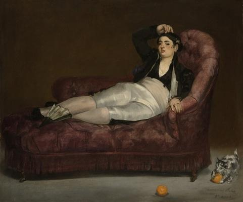 Reclining Young Woman in Spanish Costume, 1862-63
